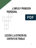 (Lección 6. Extinción Del Contrato de Trabajo.)