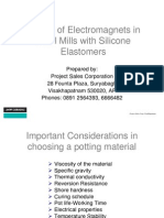 Potting of Electromagnets in Steel Mills With DC Silicone Elastomers