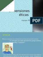 Dimensiones éticas