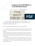 What's the Best Honey? What's so special at the Romanian honey?