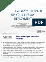 Top Twelve Ways to Speed Up Your Liferay Deployment