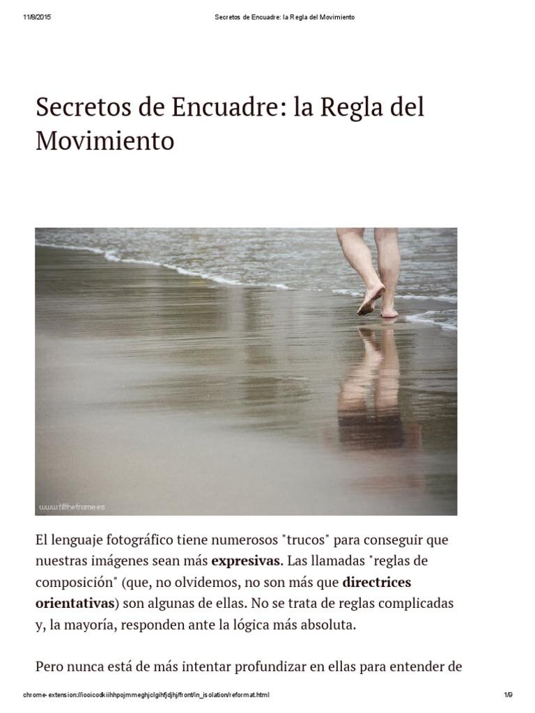 Secretos de Encuadre_ La Regla Del Movimiento