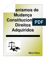 Mario Paiva - Mecanismos de Mudança Constitucional e Direitos Adquiridos