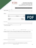 Formulaire Inscription Prim MAI
