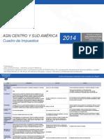 AGN Internacional - Cuadro de Impuestos Sur America 2014