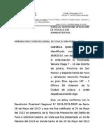 Apelacion administrativa LUZMILA