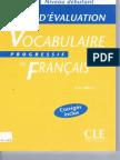 Vocabulaire Progressif Tests A1