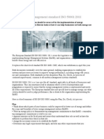 New Energy Management Standard ISO 50001