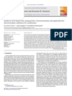 Synthesis of Pt Doped TiO2 Nanoparticles Characterization and Application