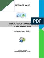 Manual Org y Funciones Dadministrativa