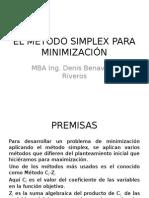 El Método Simplex Para Minimización