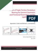 Model of Triple Friction Pendulum