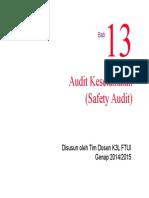 Bab 13 Safety Audit
