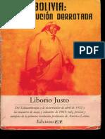 Justo, Liborio - Bolivia. La Revolucion Derrotada