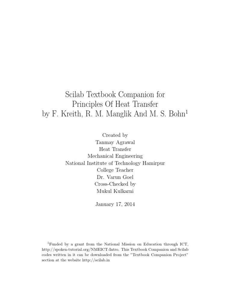 Principles of Heat Transfer_F. Kreith, R. M. Manglik and M. S. Bohn   Heat  Transfer   Hvac