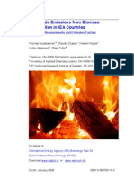 Particulate emissions from biomass combustion