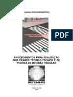 Manual de Procedimentos de Exames de Habilitacao (1)
