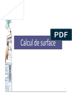 Calcul de Surface