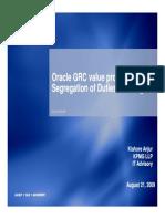 Kishore Anjur - GRC Value Proposition