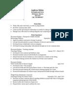 andrea klein resume 2