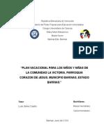 Plan Vacacional Marian y Carlos
