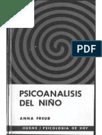 Freud, Anna - Psicoanálisis Del Niño - Ed. Paidós