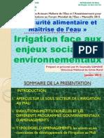 Thematique 4-5 Irrigation Face Aux Enjeux Sociaux Et Environnementaux DNGR