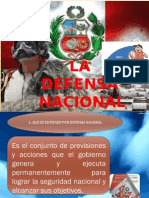 3.- Defensa Nacional