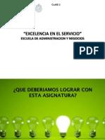 Clase 2 Excelencia Servicio 18 Agosto 2015 915pm