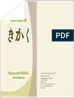 KIKAKU Dinner Menu 20150511