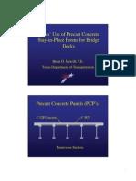 Precast Concrete Panels (PCP's)