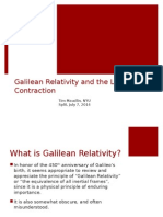 Maudlin - Galilean Relativity and Lorenzian Contraction