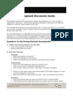 Persona Development Discussion Guide