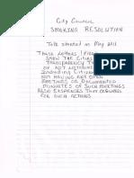 Smoking Resolution FOIA