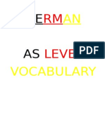 German AS Vocabulary