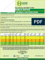 NSSF NEW RATES 2014-1