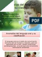 Anomalías Del Lenguaje Oral y Su Clasificación PROFESOR GUADALUPE