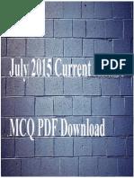 10462 July 2015 Current Affairs MCQ PDF Download