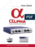 Lexicon Alpha owner's manual