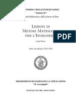 Appunti metodi matematici per l'ingegneria - Prof. Greco UNINA