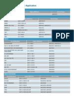 Tempest Dry Air Pump Application Chart