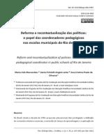 MARCONDES, Maria Ines. Reforna e Recontextualização Das Políticas.