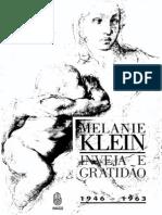 8 - Klein 1957 Inveja e Gratidão