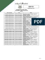 exam timetable 2015 nov