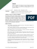 2015 Summary of Insurance Program