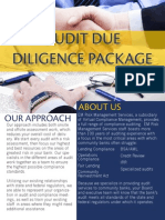 audit due diligence package
