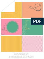 Ateets March Projectlife Printable