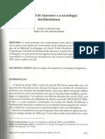 Loder, L - Saussure e a Sociologia Durkheimiana