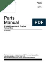 Parts Manual Cat G3406 Vol 1