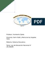 Ley de Educación Nacional N° 26.206